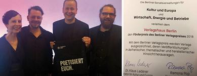 Berliner Verlagspreis 2018